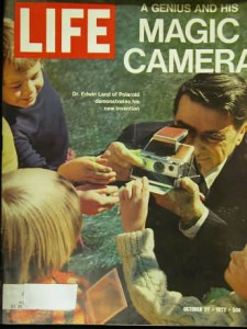 Dr. Edwin Land with SX-70, Life magazine cover, October 27, 1972
