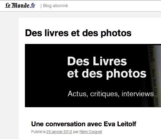 Rene Coignet blog at Le Monde, screenshot.